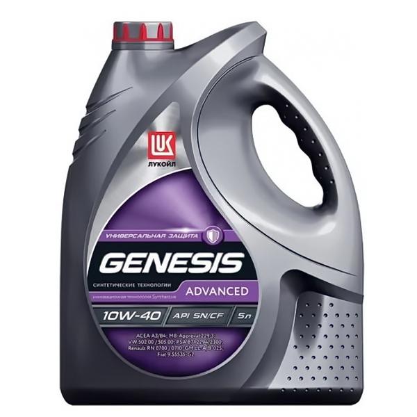 Масло моторное ЛУКОЙЛ Genesis-Advanced синтетическое 10W40 5л