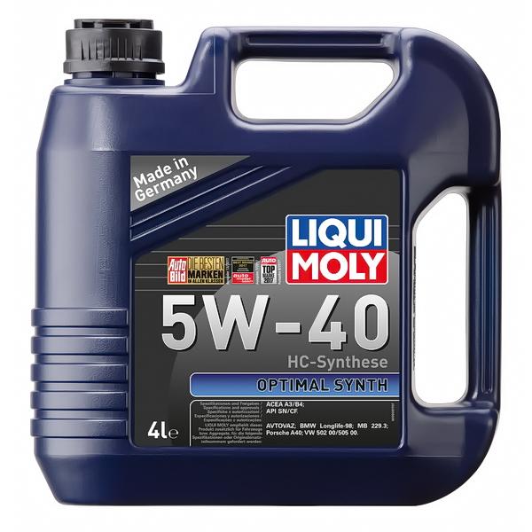 3926 Масло моторное LIQUI MOLY Optimal-Synth синтетическое 5W40 4л