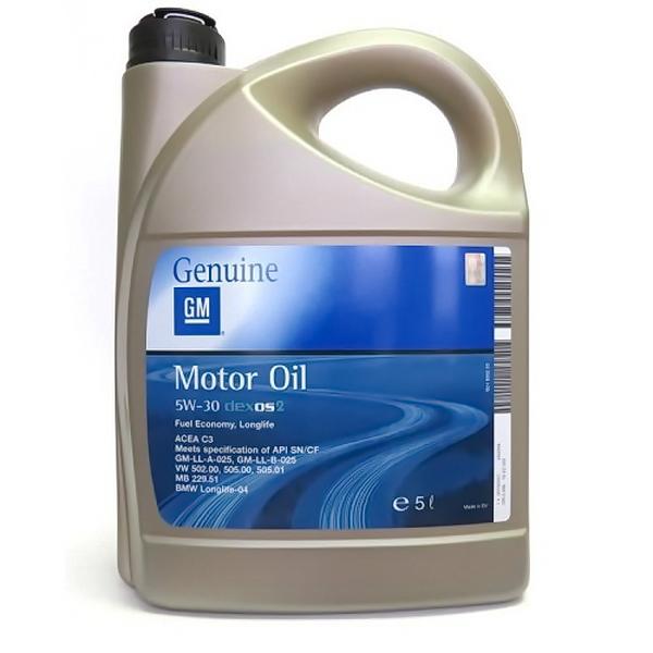 Масло моторное General Motors DEXOS2-LONGLIFE 1942003 синтетическое 5W30 5л