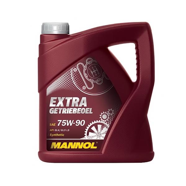 Масло MANNOL трансмиссионное GL-4/GL5 Extra Getriebeoel синтетическое 75W90 4л