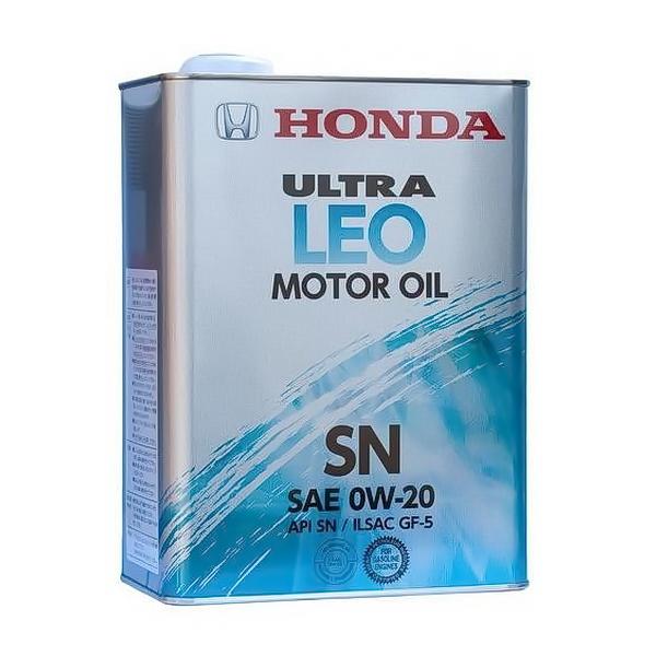 Масло моторное HONDA Ultra-LEO-SN  синтетическое 0W20 4л