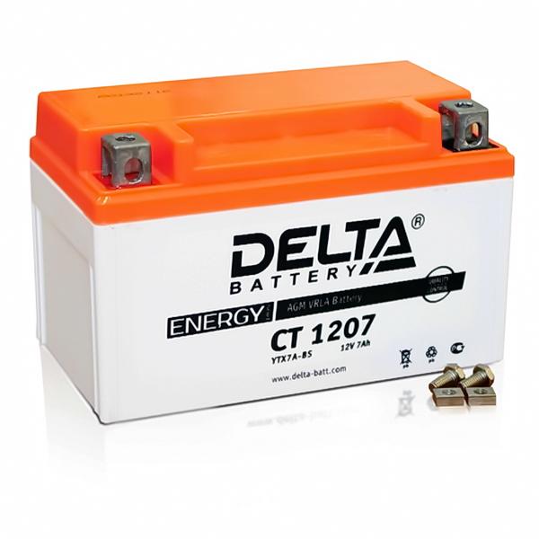 Аккумулятор DELTA 12V 7A.ч 152х87х95 (YTX7A-BS) СТ 1207
