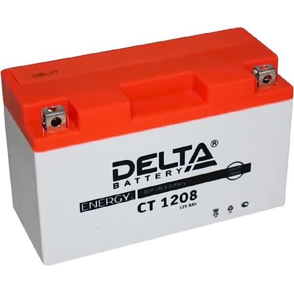 Аккумулятор DELTA 12V 8A.ч СТ 1208 150х66х94 (YT7B-BS, YT9B-BS)