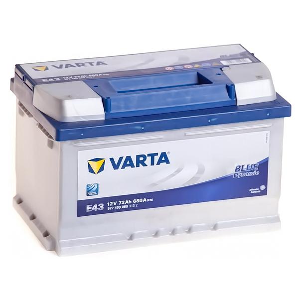 Аккумулятор VARTA Blue Dynamic 72Ач о.п 572 409 068 (E43) низкий