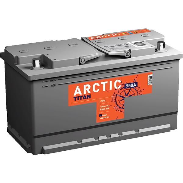 Аккумулятор ТИТАН 100Ач Arctic Silver о.п 100.0